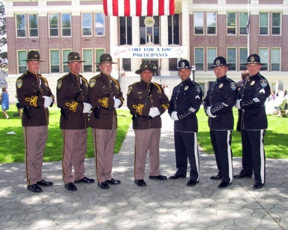 Group of Police Officers Standing in Dress Clothes
