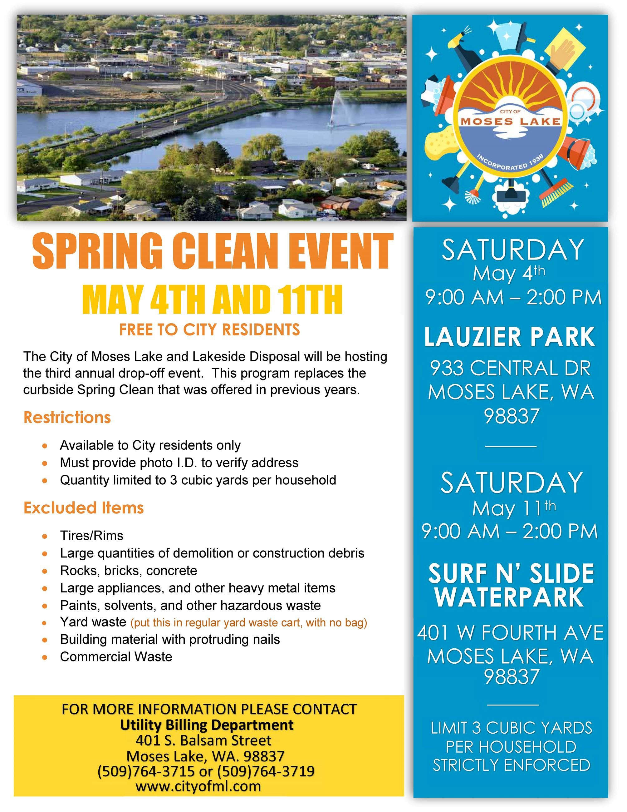 2019 Spring Clean Flyer