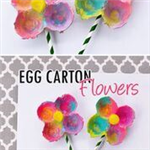 painted egg cartons to look like flowers