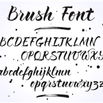 brush lettering example, letters a-z