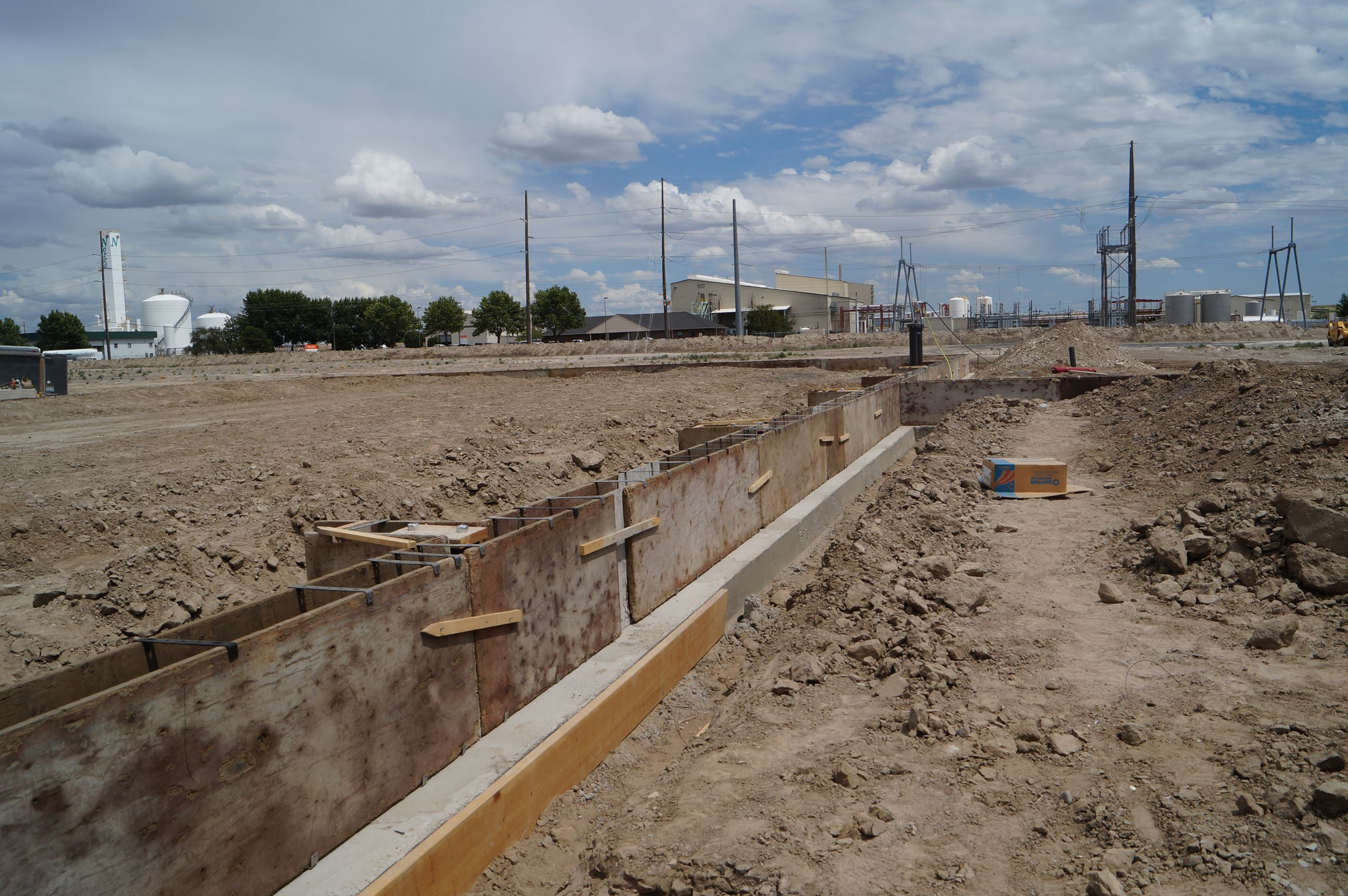 Cascade Agronomics' construction site on Road N.