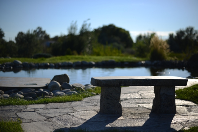 Japanese Peace Garden Bench