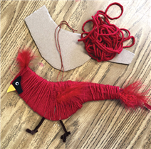 Cardinal Ornament Craft
