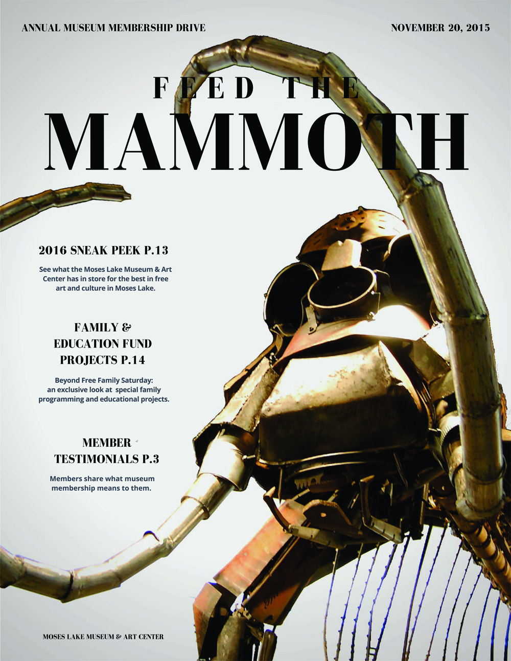 feed the mammoth magazine cover