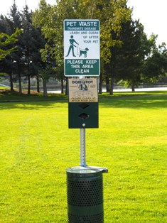 Pet Waste Bag Station