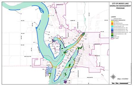 map of shoreline designation (PDF) Opens in new window