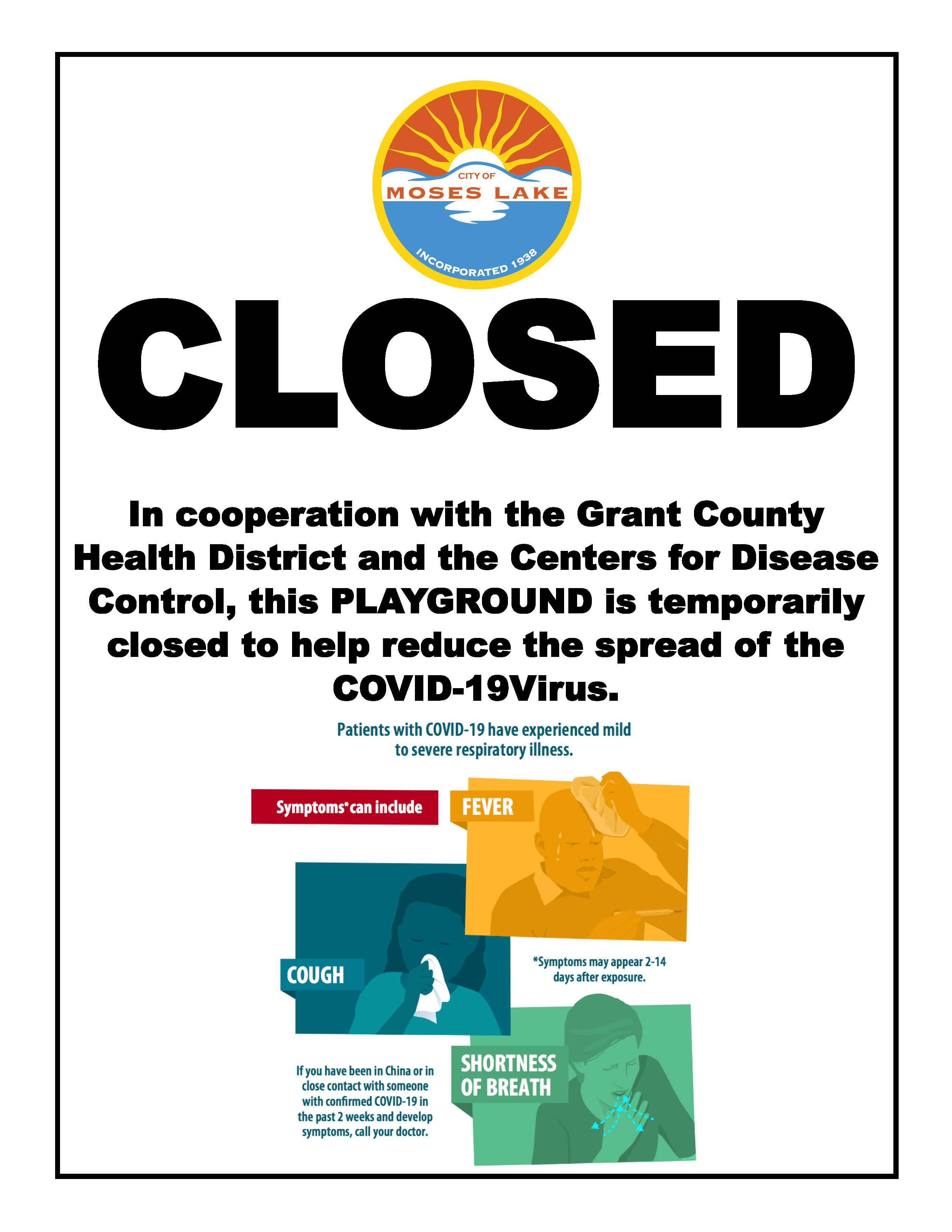 City parks are closed until further notice