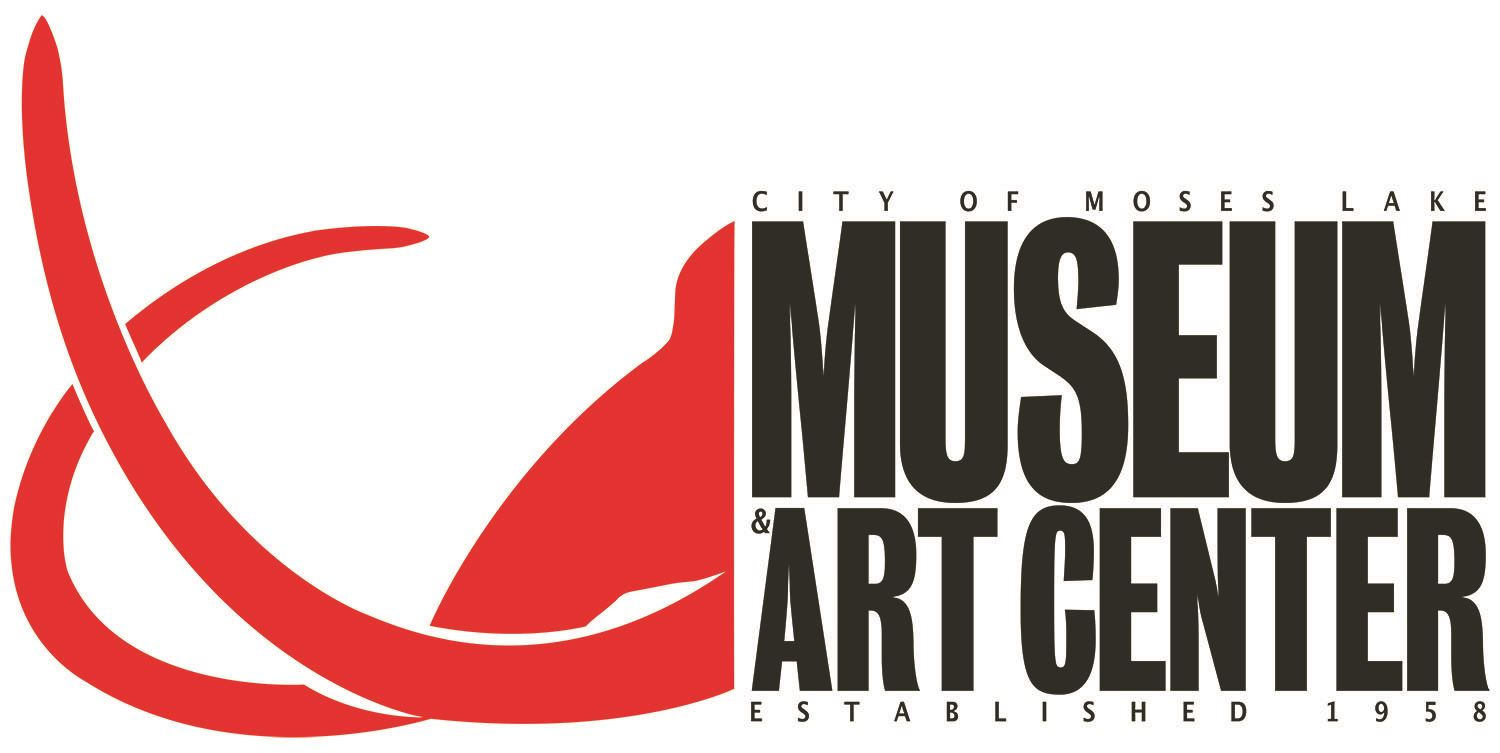 museum and art center logo with abstract mammoth