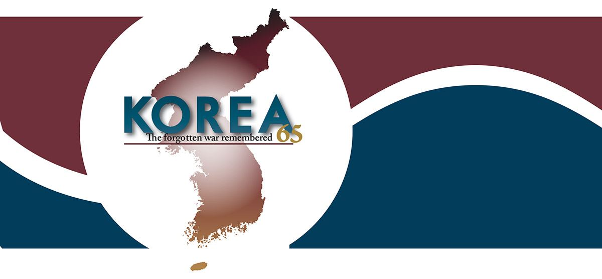 composite image with map of Korea and text