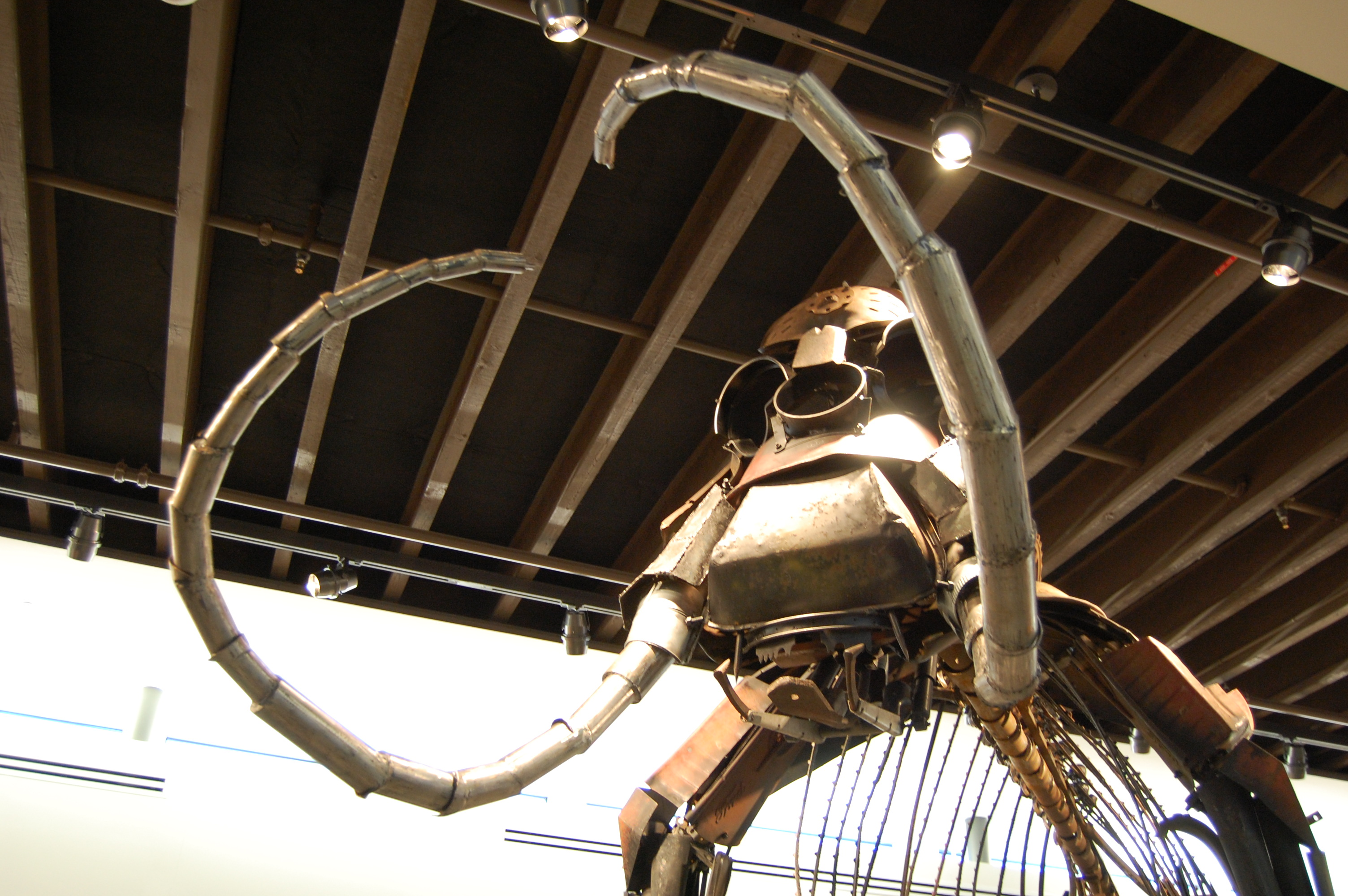 Metal Mammoth sculpture