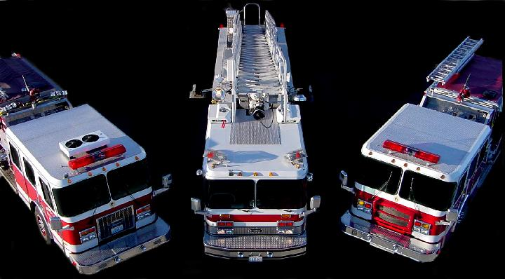 Fire Trucks From Above