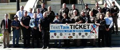 Group of People with Text Talk Ticket Sign